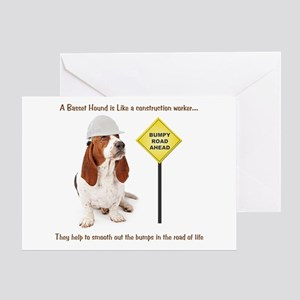 Basset Hound Construction Greeting Card